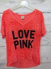 Victoria's Secret PINK Bright Orange Hi/Lo Athletic Style Top Women's Size Small