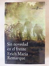 Sin Novedad en el Frente,Erich Maria Remarque,Edhasa 2010