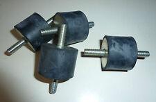 4x Schwingungsdämpfer; Gummipuffer, Silentblock; M8 40x30