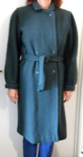 STUNNING EMERALD GREEN WOOL BLEND COAT FROM ITALY - MATCHING BELT,  FULLY LINED