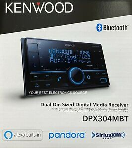 NEW Kenwood DPX304MBT 2-DIN Digital Media Receiver with Bluetooth