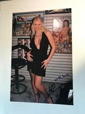 "HANNAH HARPER  signed 8x12"" Original PHOTO- SEXY LEGEND"