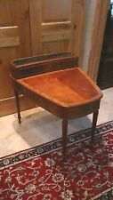Antique 19c French Rare Mahogany Inlaid Table W/ Removable Copper Planter Inset
