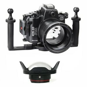 SeaFrogs 40m/130ft Underwater Camera Housing Case for Canon 5D Mark III IV