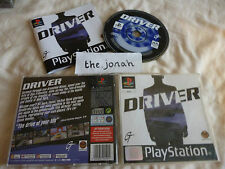 Driver PS1 (COMPLETE) black label car racing driving Sony Playstation original