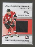 (67574) 2009-10 ITG HEROES and PROSPECTS GAME-USED JERSEY BRIAN LEE #M-03
