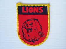 VINTAGE 80's FITZROY LIONS VFL SOUVENIR PATCH WOVEN CLOTH SEW-ON BADGE BRISBANE