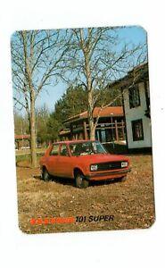 Zastava 101 Super Auto Car  Pocket Calendar  1979
