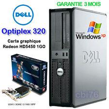 Tour Dell Optiplex 320 DT Intel Pentium 3GHZ 2GO 80GO Radeon HD5450 HDMI VGA