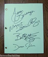 FASTER full cast autographed script Dwayne The ROCK Johnson Billy Bob Thornton