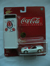 Johnny Lighting Coca Cola 2005 tin collector box 1998 Corvette #3 item #50401F