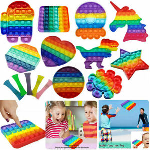 New Pop It Push Bubble Fidget Toy Sensory Jouet Anti-Stress Relief TikTok Game