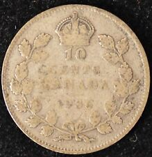 1936 VG Canadian Ten Cents #1