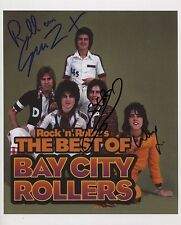 Bay City Rollers Signed Photo Genuine In Person Les Mckeown Woody Eric Faulkner
