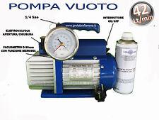 POMPA VUOTO 42LT CONDIZIONATORE GAS R410A R32 R134A R410A R407C R404 R600A R22 E