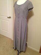 LAUNDRY by Shelli Segal Med M Dress Navy & White Check