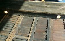 Custom made, Reclaimed Barn Wood Table, Antique Shutters, Lighted Glass