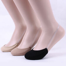 SLING BACK SOCKS (pack of 3pairs) 3colors noshow silicon women ladies QF123