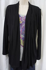 Style & co Petite Blouse Sz PL Black Gray Sequined Floral Long Sleeve Casual Top