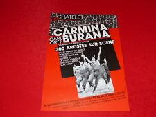 """COLL.J. LE BOURHIS AFFICHES DANSE/ BRIGITTE LEFEVRE """"CARMINA BURANA"""" 1984 TMP"""