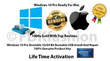 Microsoft Windows 10 Pro 32/64Bit Genuine & USB Boot Installation Drive For Mac