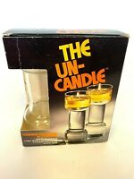 """UN-CANDLE - CORNING WARE GLASS  9"""" SET OF 2"""