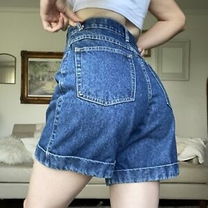 Vintage Deadstock Victoria Harbor Summer Shorts Set Cobalt Blue 2 PC Sleeveless Ultra High Waist Shorts Sz Small