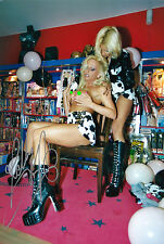Kelly Trump Dru Berrymore original Foto Mannheimer Show Selten ca.15 cm x 20 cm