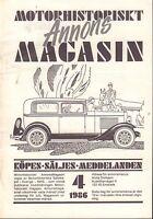 Motorhistoriskt Magasin Annon Swedish Car Magazine 4 1986 Jaguar 032717nonDBE