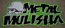 "METAL MULISHA Iconoclast Grn Helmet Skate Sticker 8"" motocross skateboard decal"