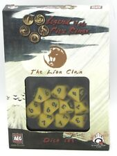 Q-Workshop SL5R59 The Lion Clan Legend of the Five Rings Dice Set L5R Yellow d10