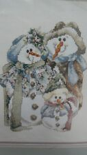 Janlynn Counted Cross Stitch Kit  Snowman #80-412 And Baby Makes Three Picture