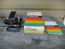 POLAROID SX-70 SONAR ONE STEP LAND CAMERA With Box & Manual
