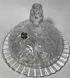 Crystal Serving Dome Platter Zajecar Butter