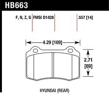 Hawk Performance HB663R.557 Consistent Brake Release Characteristics Disc Brake