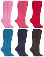 2 paires femme épaisse laine colorées hautes chaussettes pour bottes caoutchouc