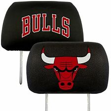 Chicago Bulls 2-Pack Auto Car Truck Embroidered Headrest Covers