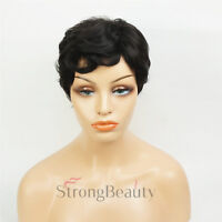 Pixie Cut Fashion Short Curly Wig for Women Full Synthetic Wigs Natural Look New
