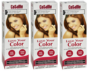 CoSaMo Hair Color #776 Light Golden Brown Compares to Loving Care #76 (3 Pack)