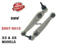 07-15 BMW X5 X6 Front Lower Left & Right Rearward Suspension Control Arms SET
