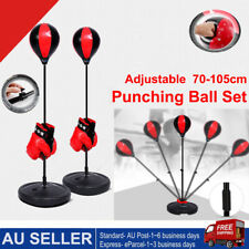 Kids Punching Bag Toy Set Adjustable Stand Boxing Glove Speed Ball Boys Gift