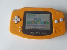 Nintendo Gameboy Advance Console Orange backlight AGS 101 - New Glass Lens