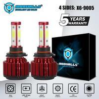 IRONWALLS 4SIDES 9005 HB3 LED Headlight Bulb Kit 2500W 375000LM Hi/Lo Beam 6000K