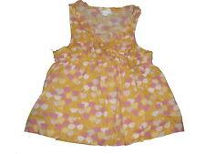 Vertbaudet tolles Top / Hängerchen Gr. 86 / 92 gelb mit rosa Blumen Motiven !!