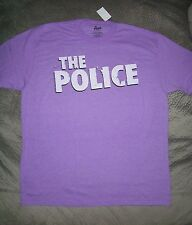 The Police Sting Rock Band Logo Purple T Shirt_ Size Medium_ New w.tags_Licensed