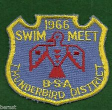 BOY SCOUT PATCH - 1966 THUNDERBIRD DISTRICT SWIM MEET