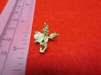 14 KT GOLD PLATED ALMOST 1 INCH LOVE ANGEL CHARM PENDANT