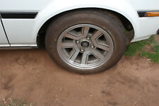 AE86 T18 MA61 PAIR OF 14X7 +8 5X114.3 wheels rims with NS2R tyres 85%