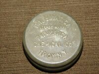 "VINTAGE MEDICINE 1 7/8"" ACROSS PNEUMATICA CHEMICAL CO TROY NY  TIN *EMPTY*"