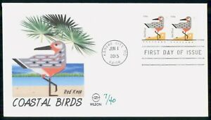 Mayfairstamps US FDC 2015 Red Knot Block First Day Card wwi_88531